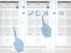★ Wireframe gesture-based version of interactions | Meng He