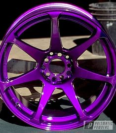 Illusion Purple with Clear Vision Top Coat Powder Coating Gallery Prismatic Powders Honda Accord Accessories, Preppy Car Accessories, Rims For Cars, Rims And Tires, Custom Wheels And Tires, Automotive Rims, B13 Nissan, Scion Cars, Hot Wheels