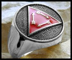 Us size 12 5 vigil of honor ring triangle eagle boy scouts silver