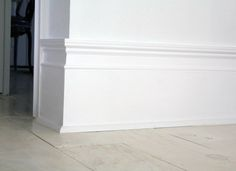 Creating inexpensive tall baseboards