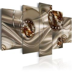 Konda Art - Enchanted Bronze Canvas Artwork Set Modern Abstract Wall Art Painting 5 pcs Large Decor Giclee Print Artwork for Living Room Framed and Ready to Hang Metal Artwork, Canvas Artwork, Artwork Prints, Painting Prints, Art Print, Bronze, Enchanted, Lunch Atop A Skyscraper, Artwork For Living Room