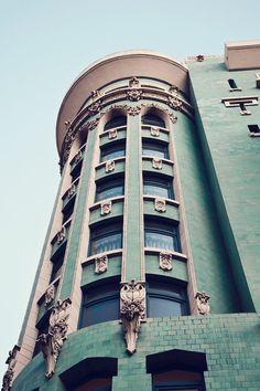 San Francisco Art Mint Green Architecture Fine by MelanieAlexandra,