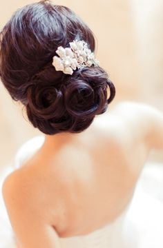 ~ we ❤ this! moncheribridals.com ~ #weddinghair #weddingupdo