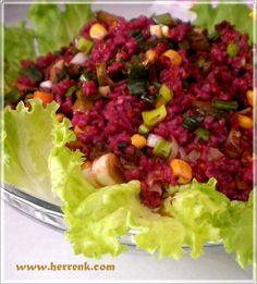 Şalgamlı Salata-mor bulgur salatası,şalgamlı bulgur salatası,şalgamlı salata,şalgamlı kısır tarifi,çayın yanına salata tarifleri,misafir için salata tarifleri,misafir için değişik tarifler,gün için salata tarifleri,