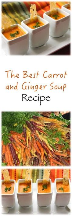 The Best Carrot and Ginger Recipe (Carrot Soup Recipes) Carrot And Ginger Recipes, Ginger Soup Recipe, Soup Recipes, Vegetarian Recipes, Cooking Recipes, Healthy Recipes, Best Vegetable Recipes, Milk Recipes, Granita