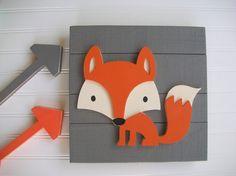 Fox Wall Decor. Fox . Fox Nursery. Fox Sign by RessieLillian