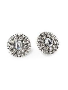 Tinley Road crystal button earrings