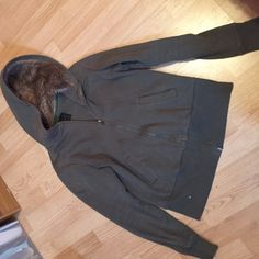 Jacket with fur hood! Gently worn! Massini Jackets & Coats