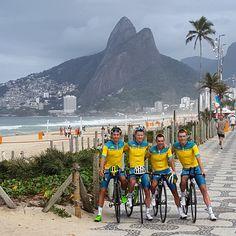 Australian Road Squad Rio Olympics 2016. Team members - Richie Port, Rohan Dennis, Simon Clarke, Scott Bowden.
