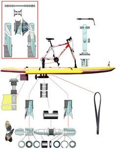You would love to have a small boat of your own, but even a small boat can be expensive. Pedal Powered Kayak, Pedal Boat, Boat Building Plans, Boat Plans, Canoa Kayak, Amphibious Vehicle, Kayak Accessories, Plywood Boat, Diy Boat