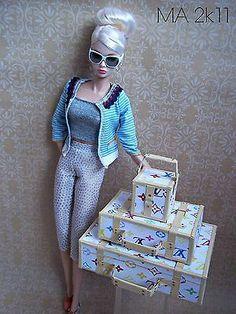 Louis Vitton Luggage 3 Pce Fits Fashion Royalty | eBay