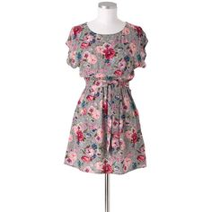 Floral Blelted Shift Dress