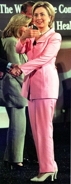 Hillary Clinton's Career in Pantsuits - June 7, 1999 from InStyle.com