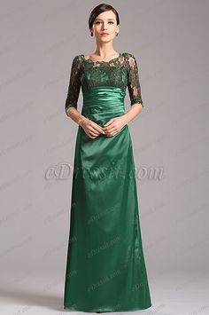 Modest Long Lace Sleeves Green Mother of the Bride Dress (X26121804) list price: $140.81 sale price: $91.53