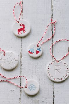 diy clay gift tags/ornaments – movita beaucoup