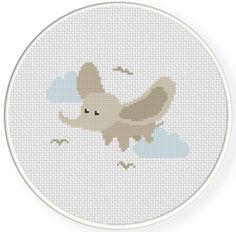 INSTANT DOWNLOAD Stitch Flying Dumbo PDF Cross Stitch Pattern Needlecraft