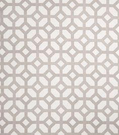 Home Decor Print Fabric -Eaton Square Marmalade Grey: fabric: Shop   Joann.com