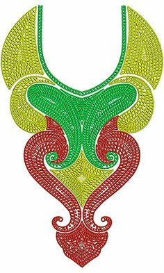 Islamic Concept Neck Embroidery Designs