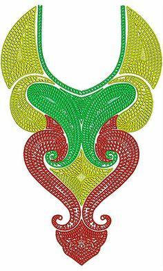 Islamic Concept Neck Embroidery Designs