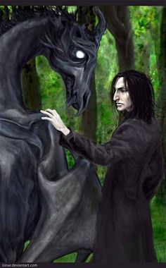 Severus Snape with thestral