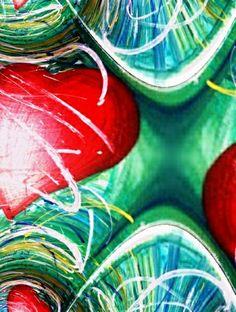 Kauf 'Herz fraktal' von Atelier Farbenherz Birgitt Negro auf Leinwand, Alu-Dibond, (gerahmten) Postern und Xpozer.