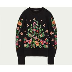 EMBROIDERED FLOWER SWEATER - NEW IN-WOMAN-COLLECTION SS/17 | ZARA... ($32) ❤ liked on Polyvore featuring tops, sweaters, flower top, flower sweater, embroidered sweaters, embroidery top and embroidered top