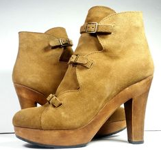 Chloe Boots 40 See by ChloeTan Brown Suede Ankle Booties *Lovely* Size 9 / 9.5 #SeebyChlo #Booties