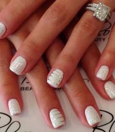 White manicure! I just love it on summer! So classy and matches with every outfit!