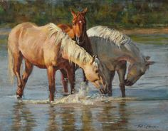 horse painting by Phil Beck