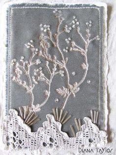 Winter Grey collage on velvet by Velvet Moth Studio