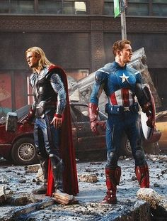 Thor and Captain America.