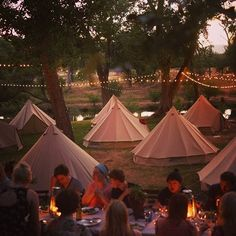 Camping dinner parties are the best. That would be such a blast!!!