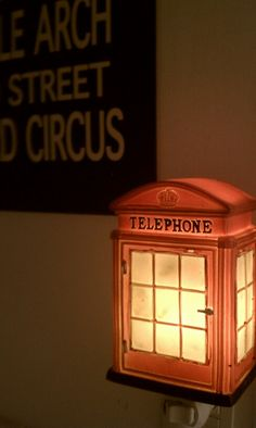 British telephone booth nightlight
