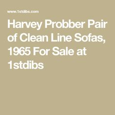 Harvey Probber Pair of Clean Line Sofas, 1965 For Sale at 1stdibs