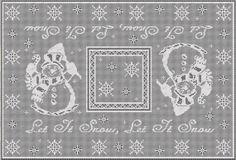 Filet Crochet Tablecloth PATTERN  Let It Snow. by SoigneeInCrochet, $6.00