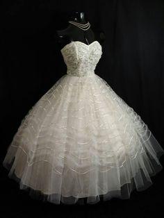 1950s Wedding Dress [more at pinterest.com/eventsbygab]