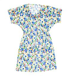 multicolour dress, polyester spandex dress, summer dress