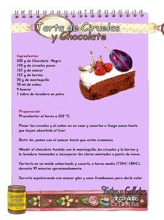 Tartas, Galletas Decoradas y Cupcakes: Tarta de Ciruelas y Chocolate