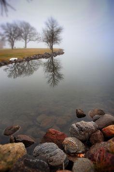Flat water foggy Sunday.