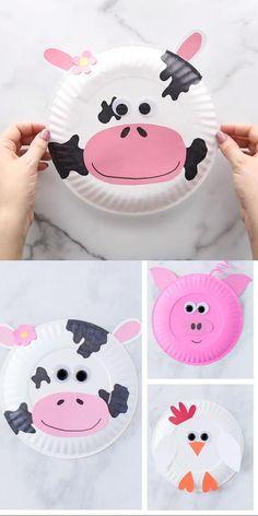 Paper Plate Farm Animals