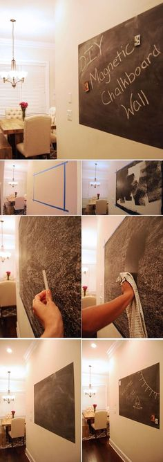 Magnetic Chalkboard Wall Playroom Ideas