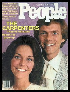 Karen & Richard Carpenter aren't at the top of the world: They need to be in love People Magazine: August . Karen Carpenter, Richard Carpenter, People Magazine, Life Magazine, Sister Act, Brother Sister, Karen Richards, Pop Musicians, Famous Musicians