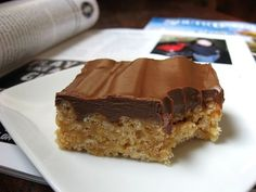 Chocolate Frosted Peanut Butter Rice Krispie Treats - awesome and unforgettable! :)