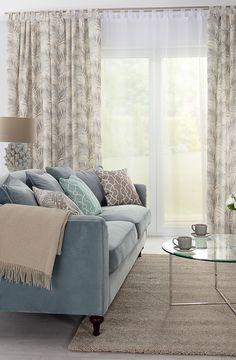 Kolekcia látok Gardenia - nádherná novinka v našej ponuke.   #kvety#metraz#latky#tkaniny#novinka#obyvacka#zavesy#vankuse Sofa, Couch, Lounge, Pillows, Living Room, Fabric, Furniture, Collection, Interior Design