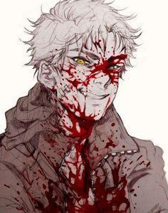 More wonderful blood splatters! Manga Art, Anime Art, Character Art, Character Design, Character Inspiration, Yandere Boy, Scary, Creepy, Gore Aesthetic