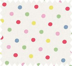 Cath Kidston Dotty Cotton Duck fabric! Would make some darling curtains/cushions/crafts, etc.