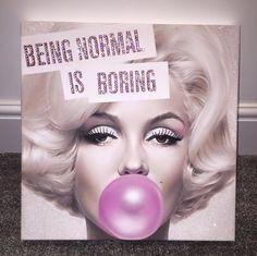 Image of Marilyn Monroe Being Normal Is Boring