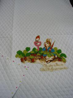 Beatrix Potter Peter Rabbit blanket baby quilt by GrannysHeritage