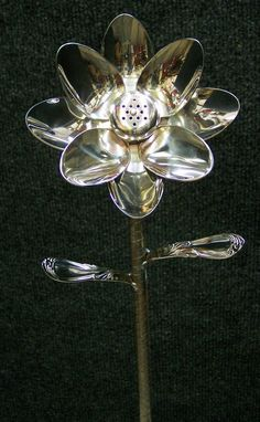 Up-cycled spoon flowers - perfect for the garden!?