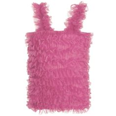 ANGEL'S FACE Dark Pink Tulle Net Frilled Top